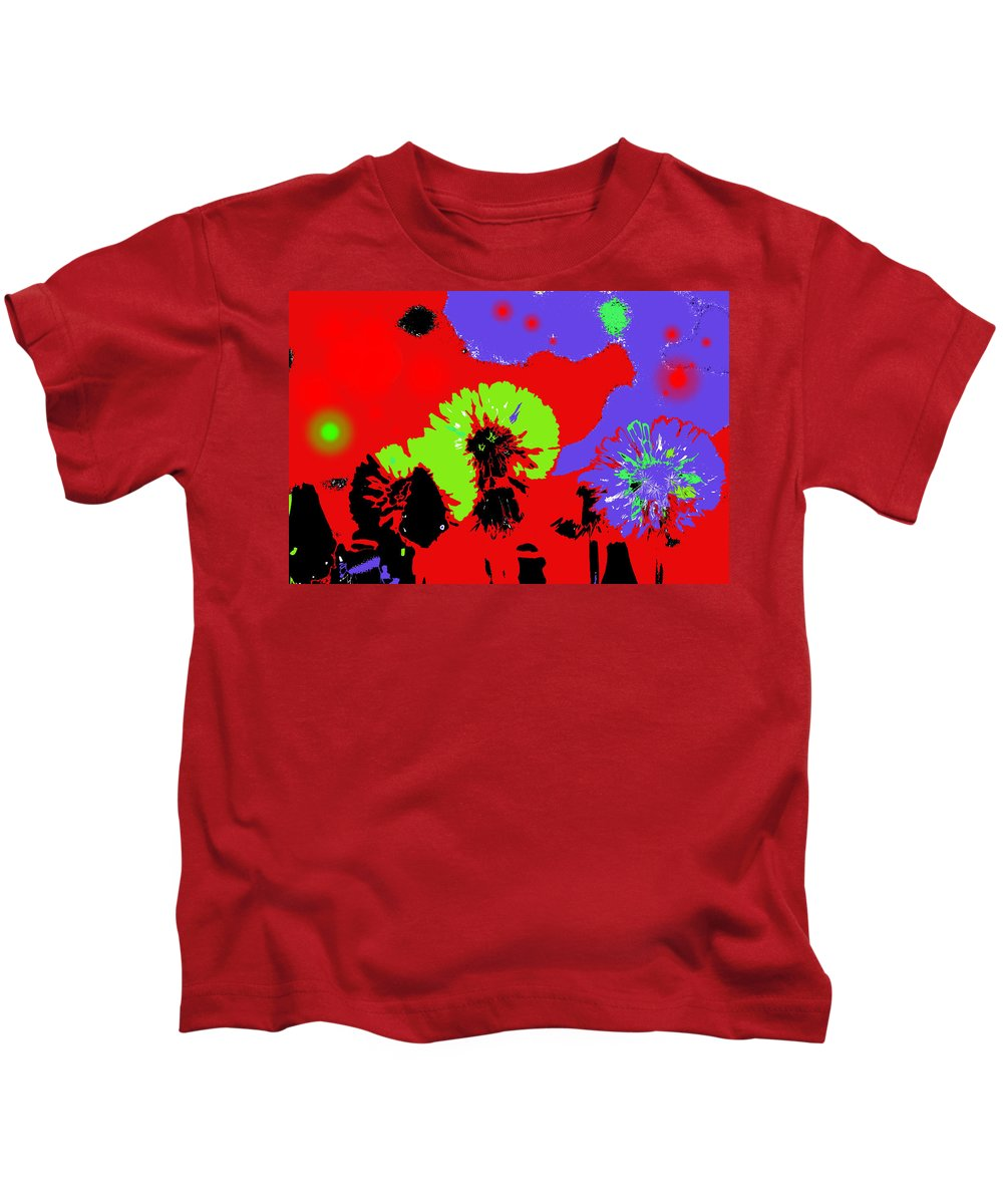 Abstract Kids T-Shirt featuring the photograph Dandelion Seeds by Jeff Swan