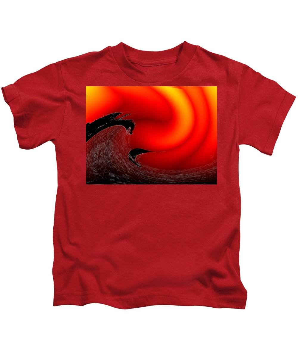 Danger Kids T-Shirt featuring the photograph Dangerous Waters Off Alki by Tim Allen