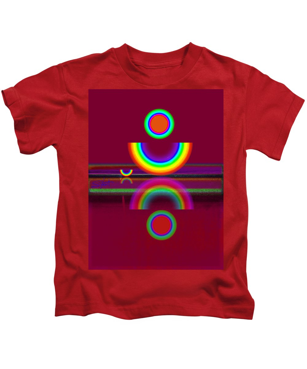 Reflections Kids T-Shirt featuring the painting Dark Heat by Charles Stuart