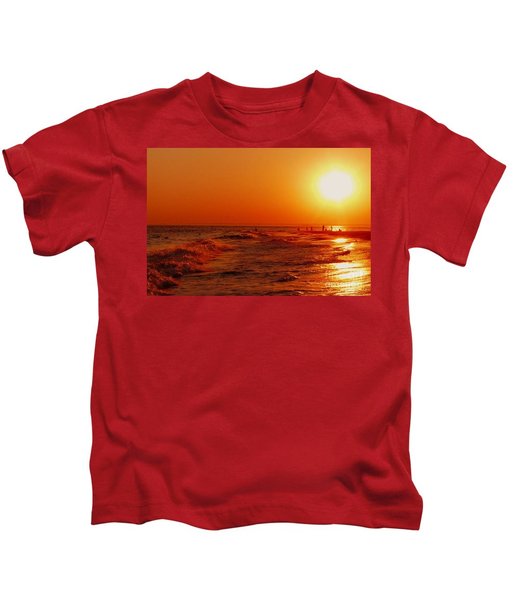 Sunset Kids T-Shirt featuring the photograph Day's End by Kendall Eutemey