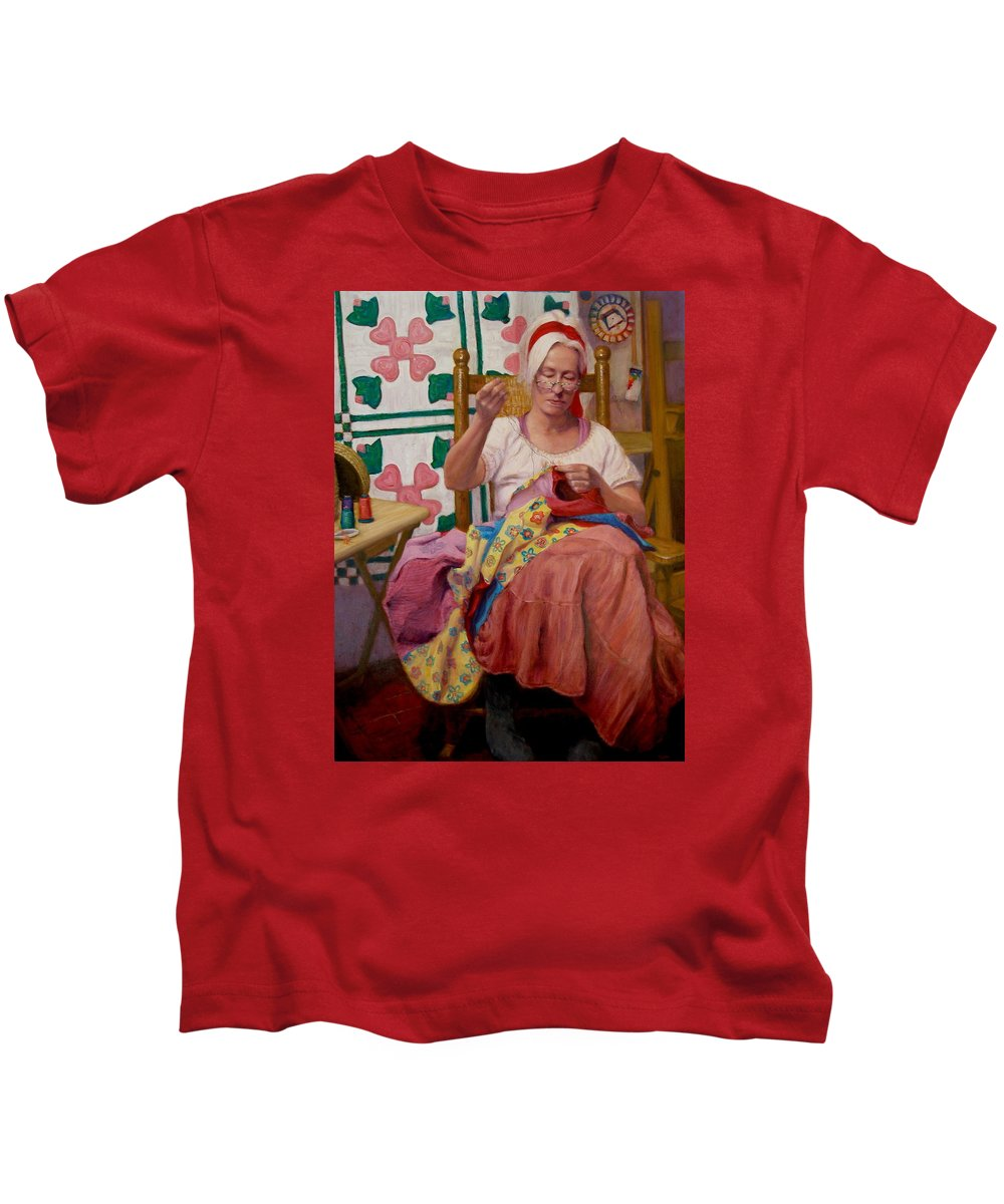 Realism Kids T-Shirt featuring the painting Desert Rose by Donelli DiMaria