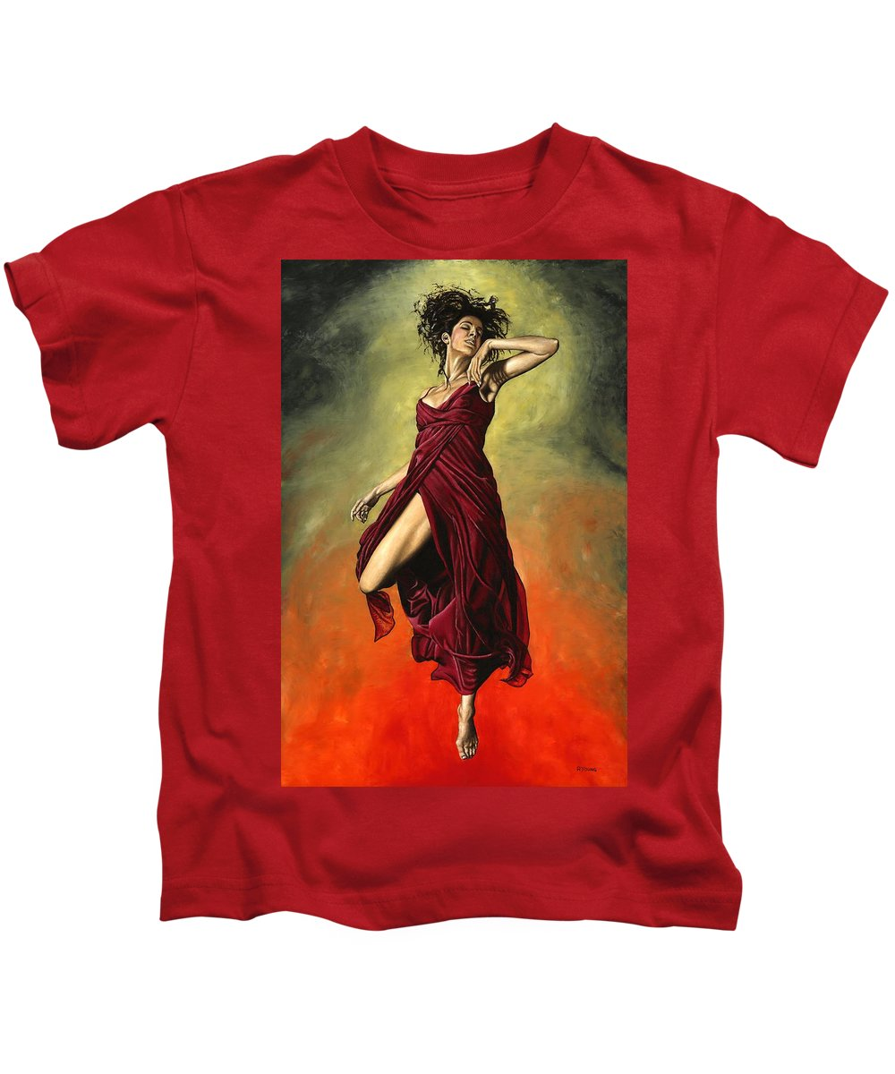 Dance Kids T-Shirt featuring the painting Destiny's Dance by Richard Young