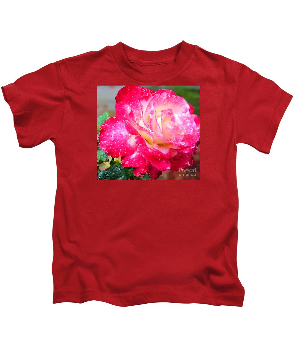 Fine Art Photography Kids T-Shirt featuring the photograph Double Delight by Patricia Griffin Brett
