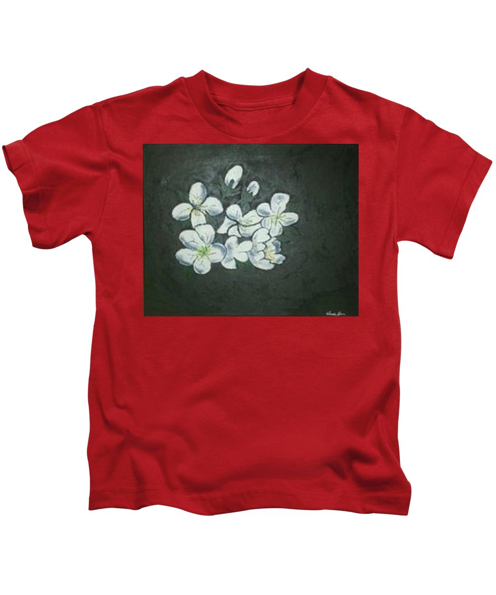 Flowers Kids T-Shirt featuring the painting Doubt by Wanda D
