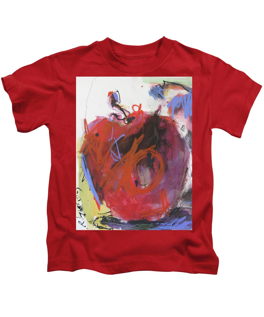 Apple Kids T-Shirt featuring the painting Dr. Repellent by Robert Joyner