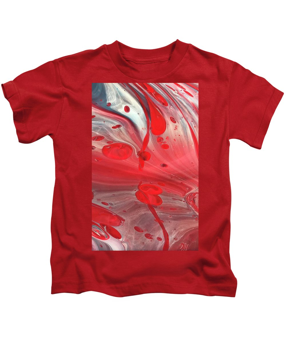 Acrylic Kids T-Shirt featuring the painting Drops Of Red by A Billings