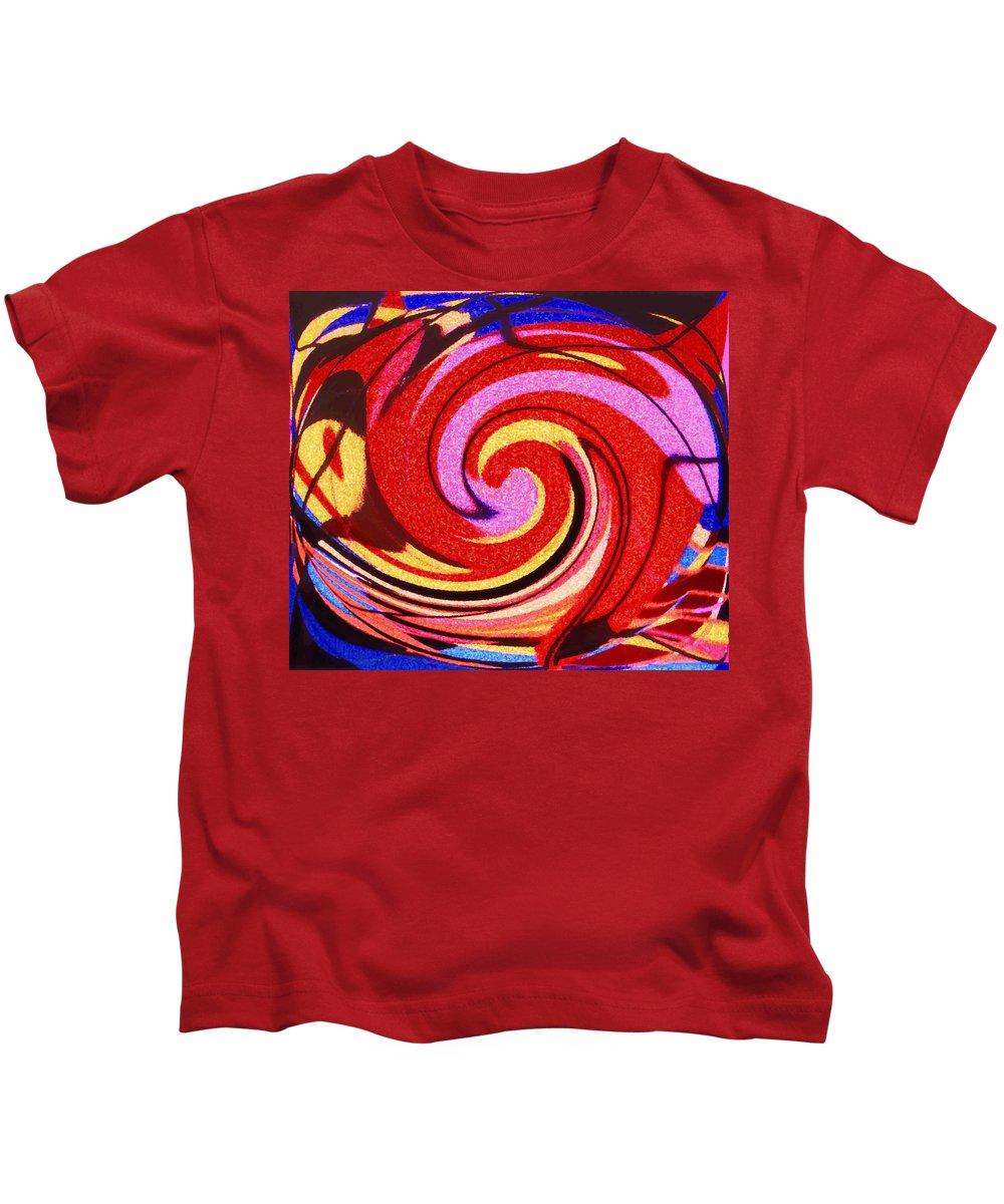 Eagle Kids T-Shirt featuring the digital art Eagle And Bear by Ian MacDonald