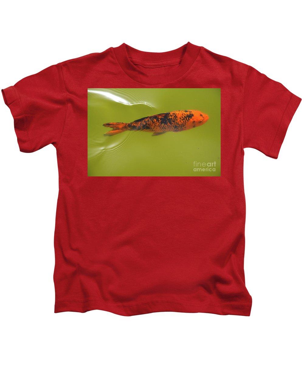 Elegant Swim Kids T-Shirt featuring the photograph Elegant Swim by Des Marquardt