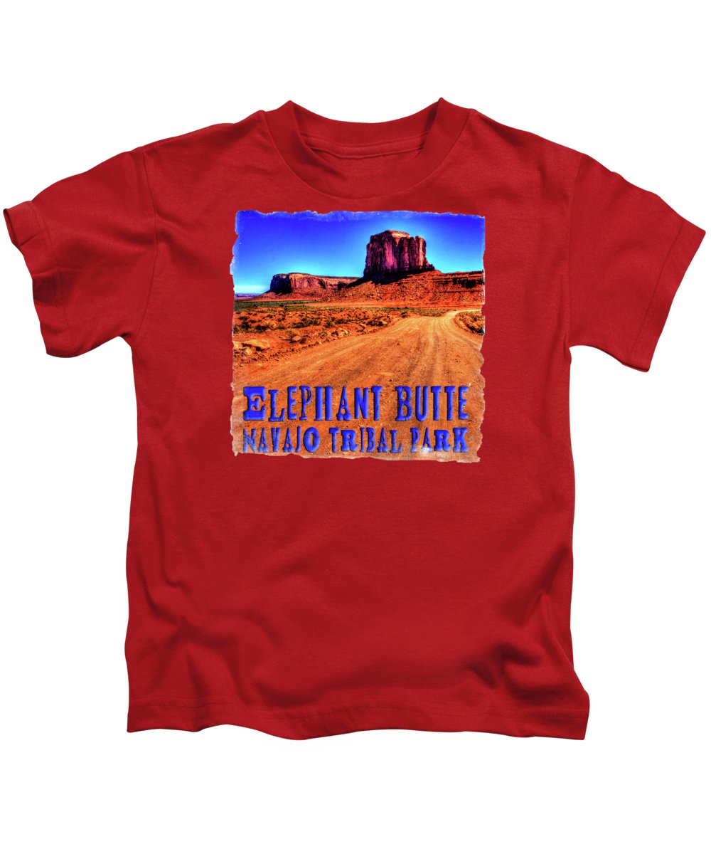 Arizona Kids T-Shirt featuring the photograph Elephant Butte Monument Valley Navajo Tribal Park by Roger Passman