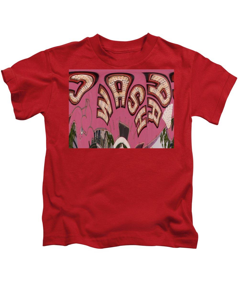 Seattle Kids T-Shirt featuring the digital art Elephant Car Wash by Tim Allen