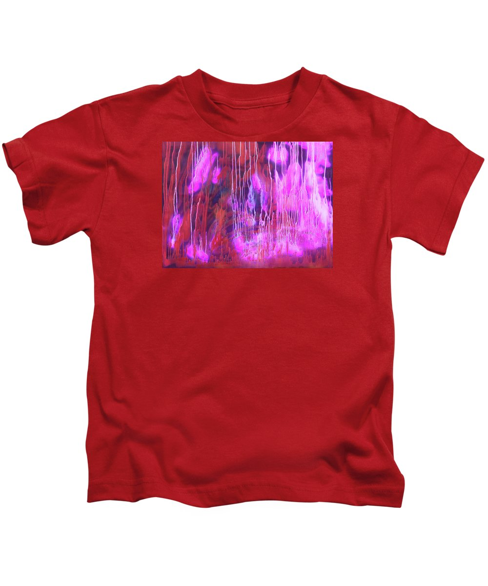 Fusionart Kids T-Shirt featuring the painting Enlightened Spirit by Ralph White