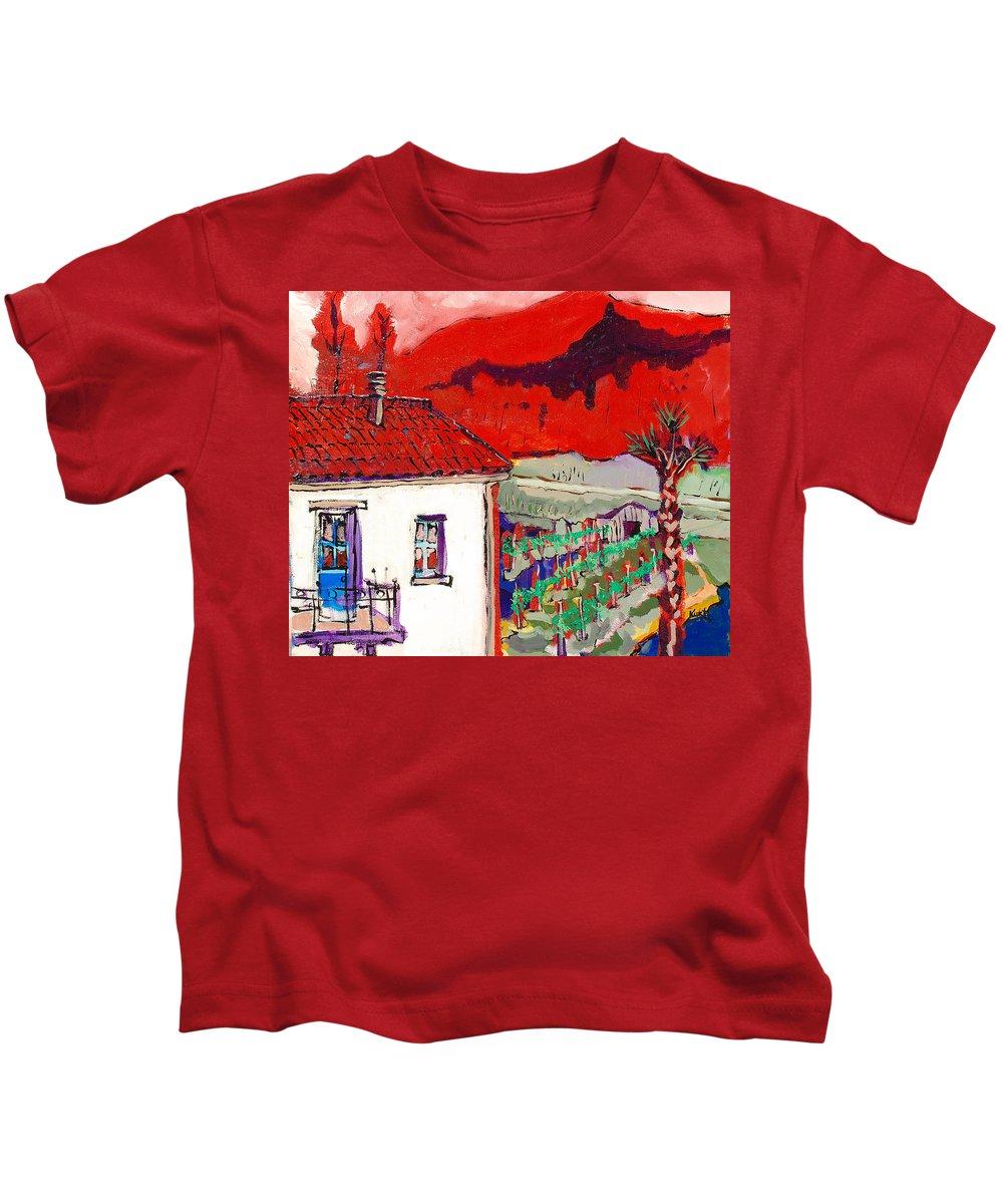 Kids T-Shirt featuring the painting Enrico's View by Kurt Hausmann