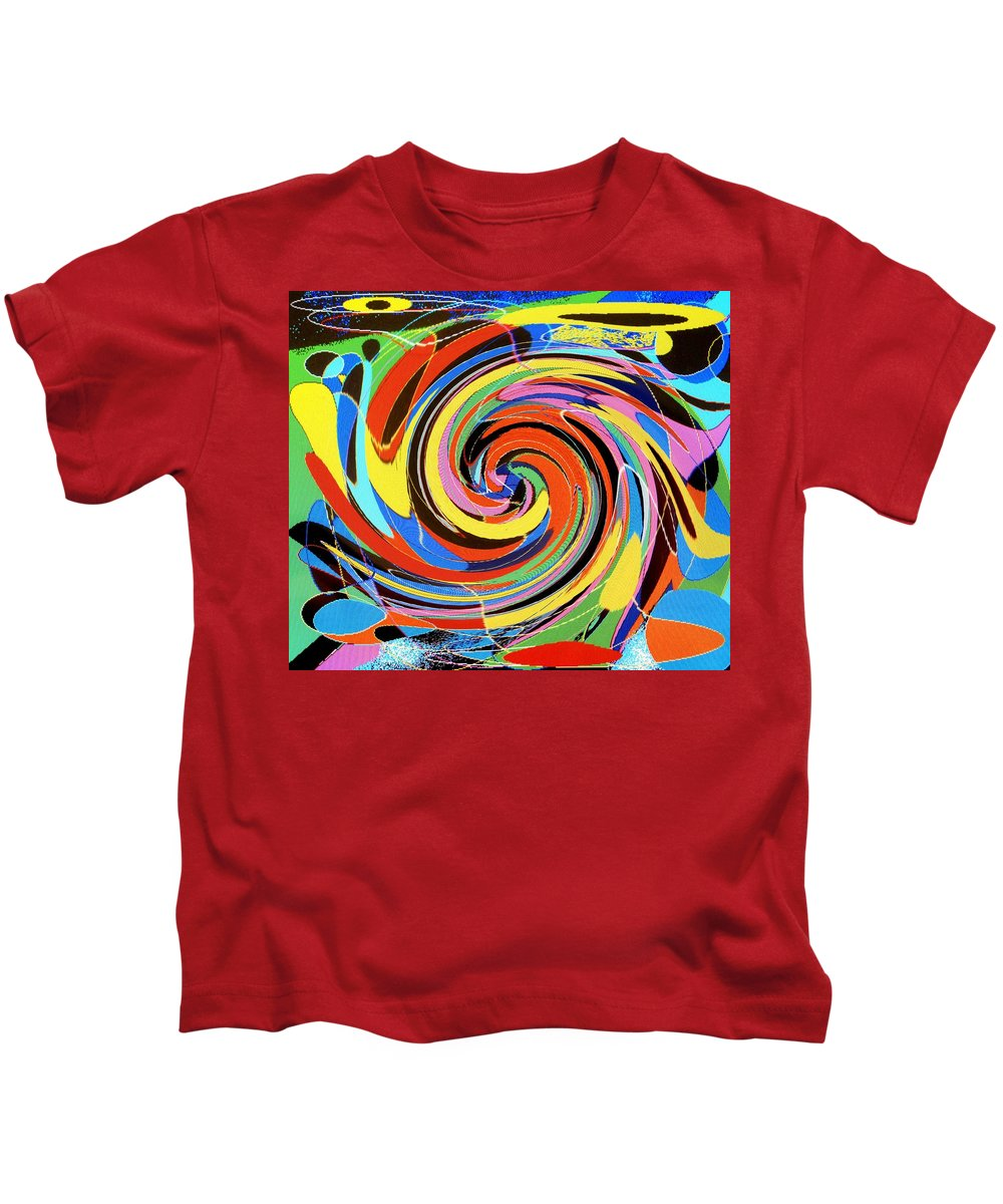 Kids T-Shirt featuring the digital art Escaping The Vortex by Ian MacDonald