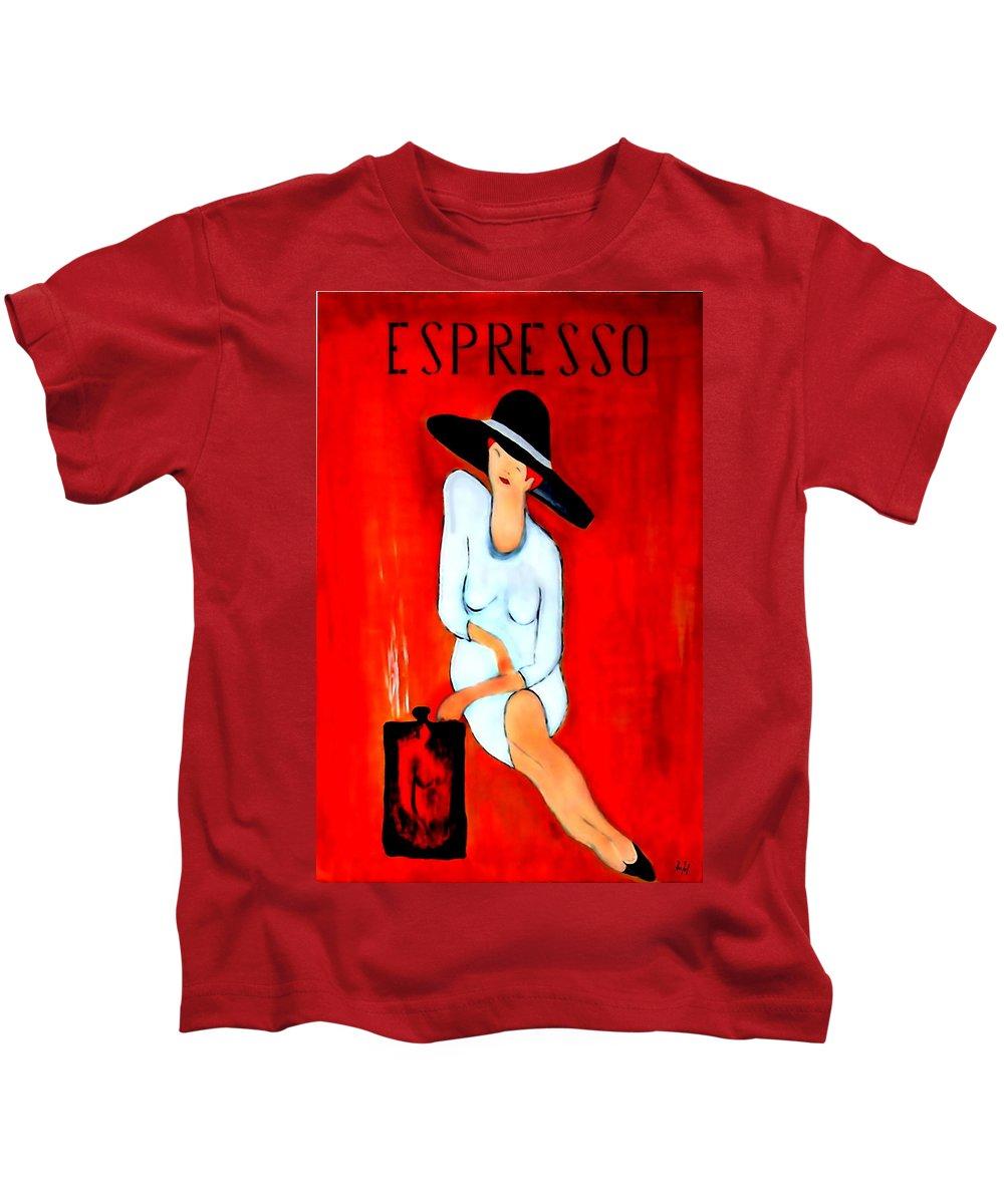 Italian Kids T-Shirt featuring the digital art Espresso by Helmut Rottler