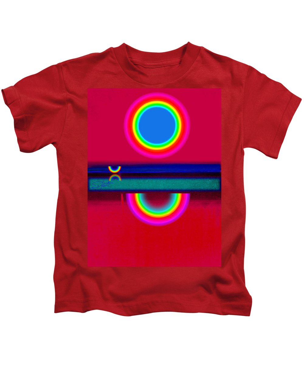 Reflections Kids T-Shirt featuring the painting Evening Heat by Charles Stuart