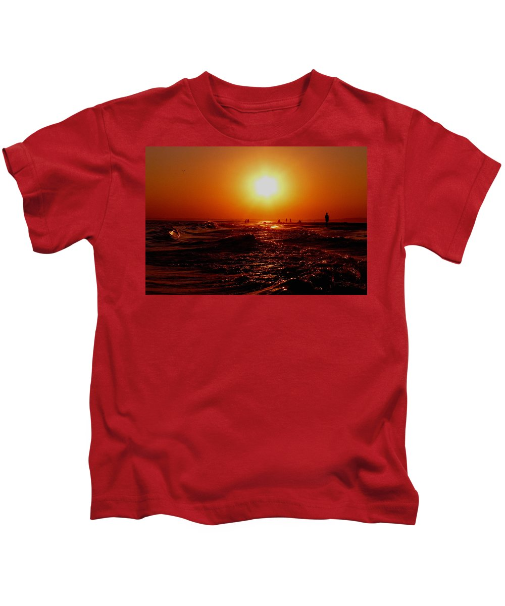 Beach Kids T-Shirt featuring the photograph Extreme Blazing Sun by Kendall Eutemey