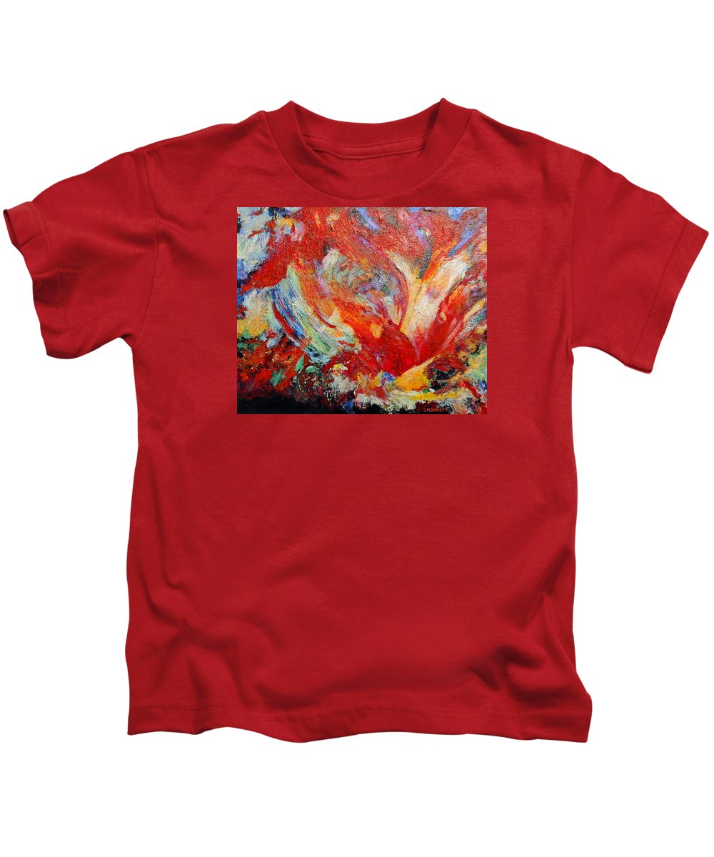 Abstract Kids T-Shirt featuring the painting Exuberance by Michael Durst