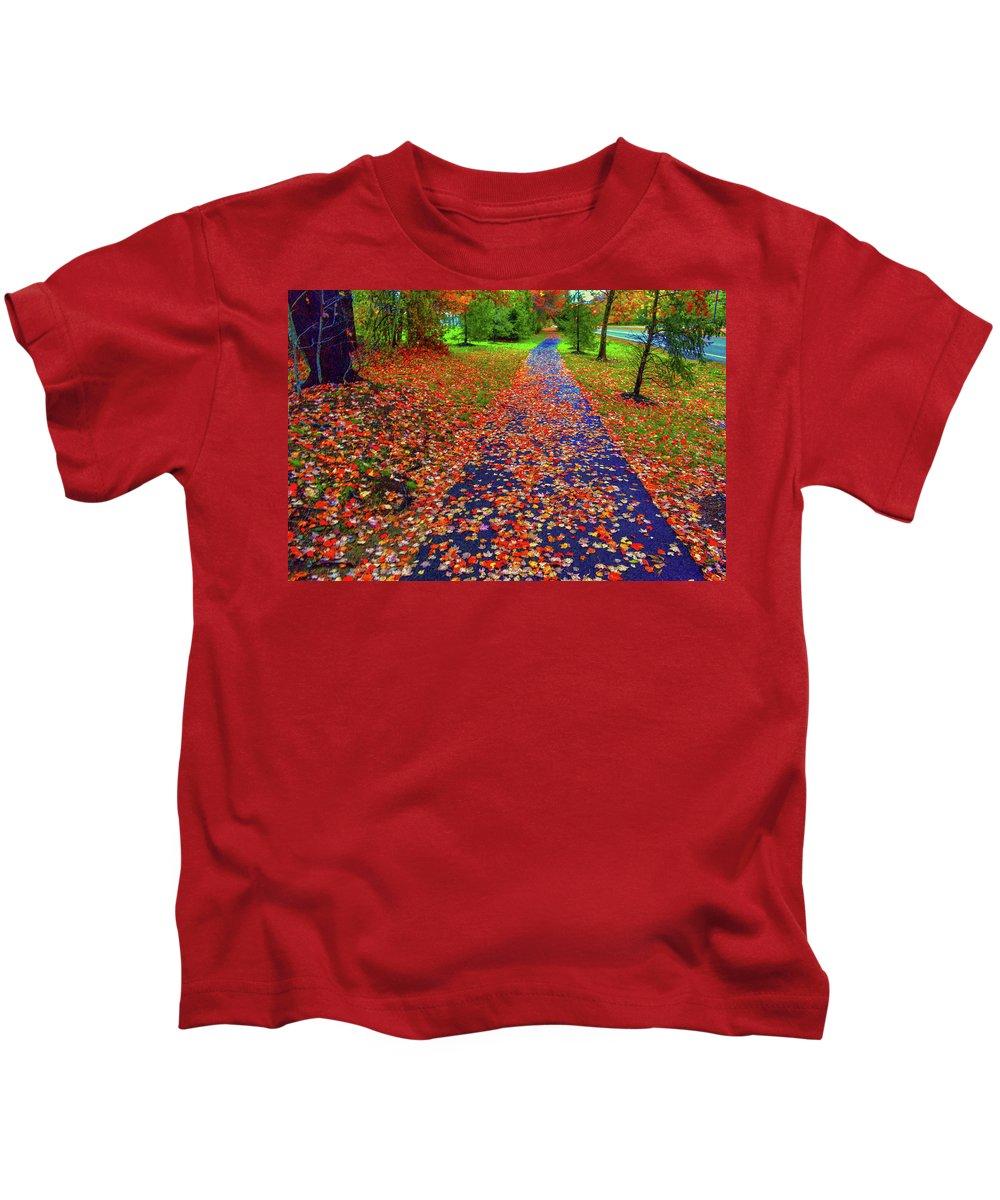 Fall Colors Kids T-Shirt featuring the photograph Fall Colors 2014-#15 by Srinivasan Venkatarajan