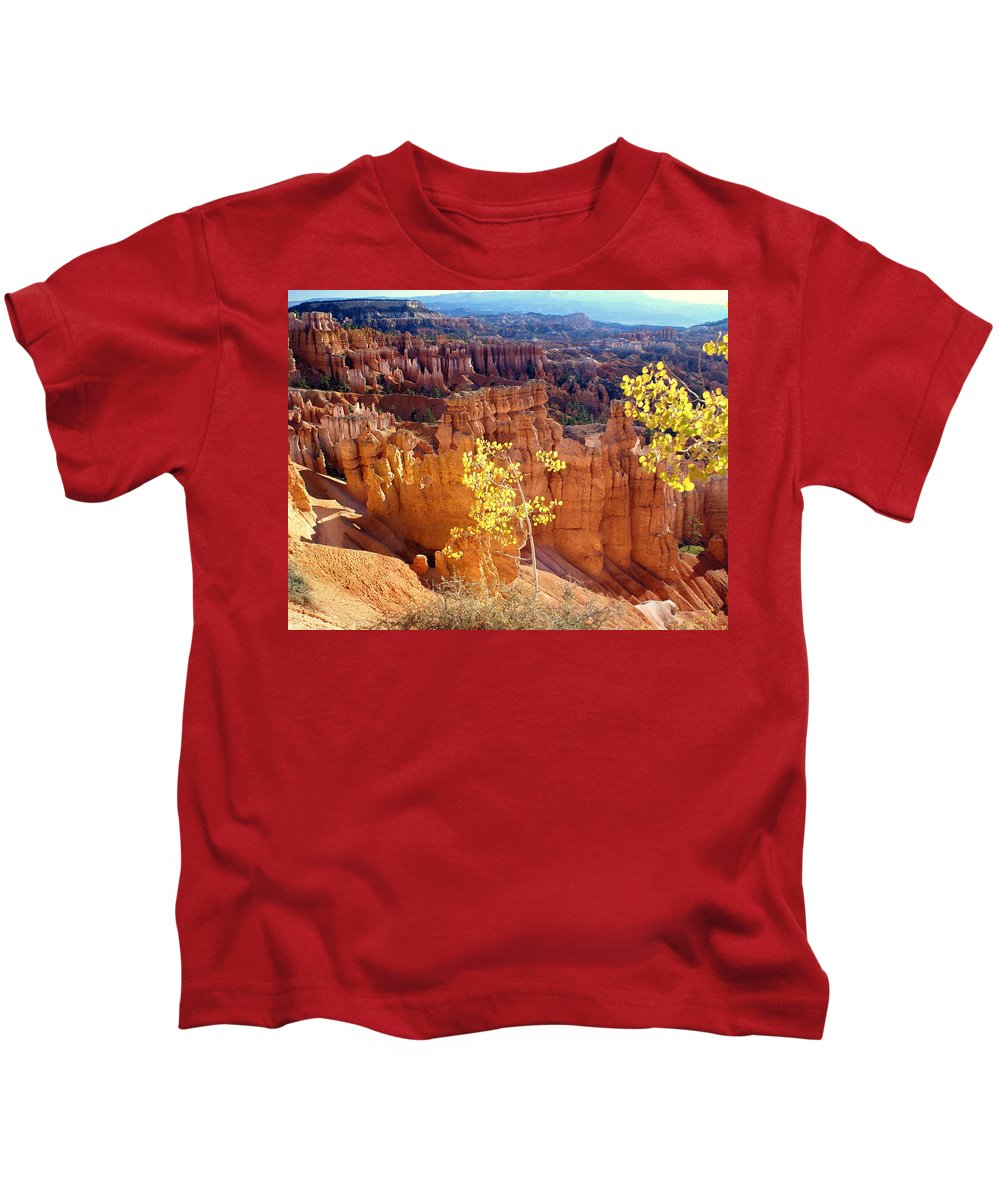 Bryce Canyon National Park Kids T-Shirt featuring the photograph Fall In Bryce Canyon by Marty Koch