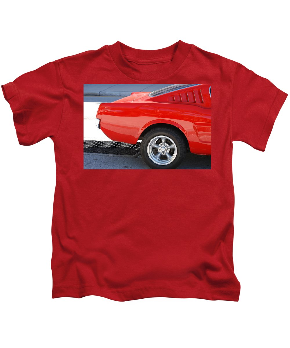Ford Kids T-Shirt featuring the photograph Fastback Mustang by Rob Hans