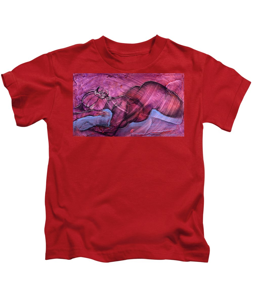 Nude Kids T-Shirt featuring the painting Feeling Sensuous by Richard Hoedl
