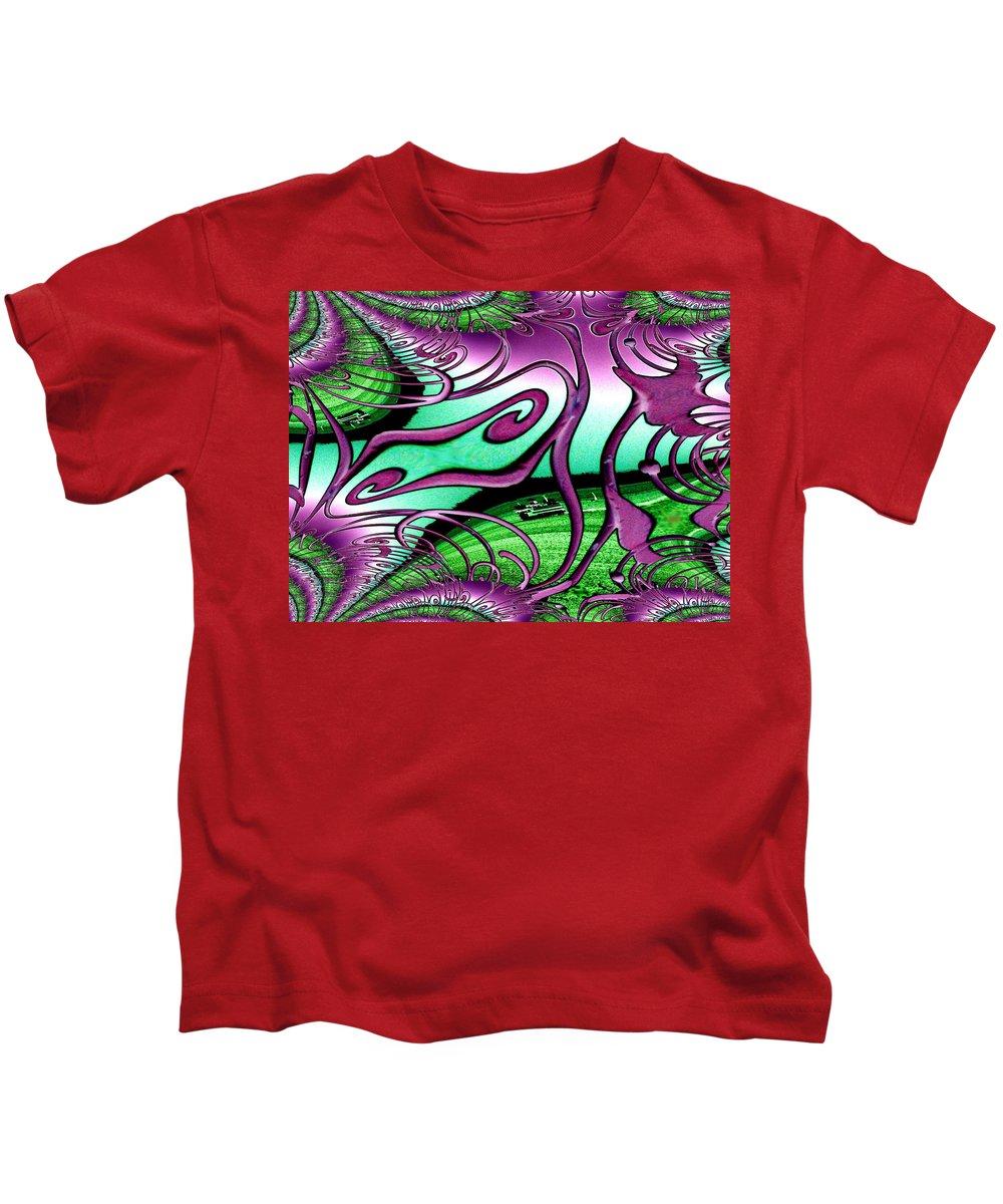 Seattle Kids T-Shirt featuring the digital art Ferry On Elliott Bay 2 by Tim Allen