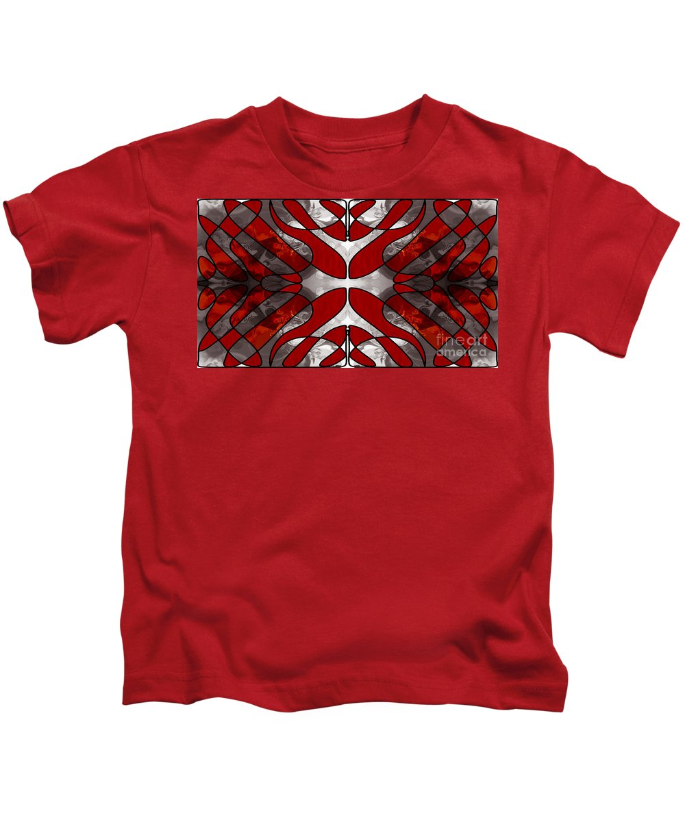 2015 Kids T-Shirt featuring the digital art Finding Light In Life Abstract Illustrations By Omashte by Omaste Witkowski