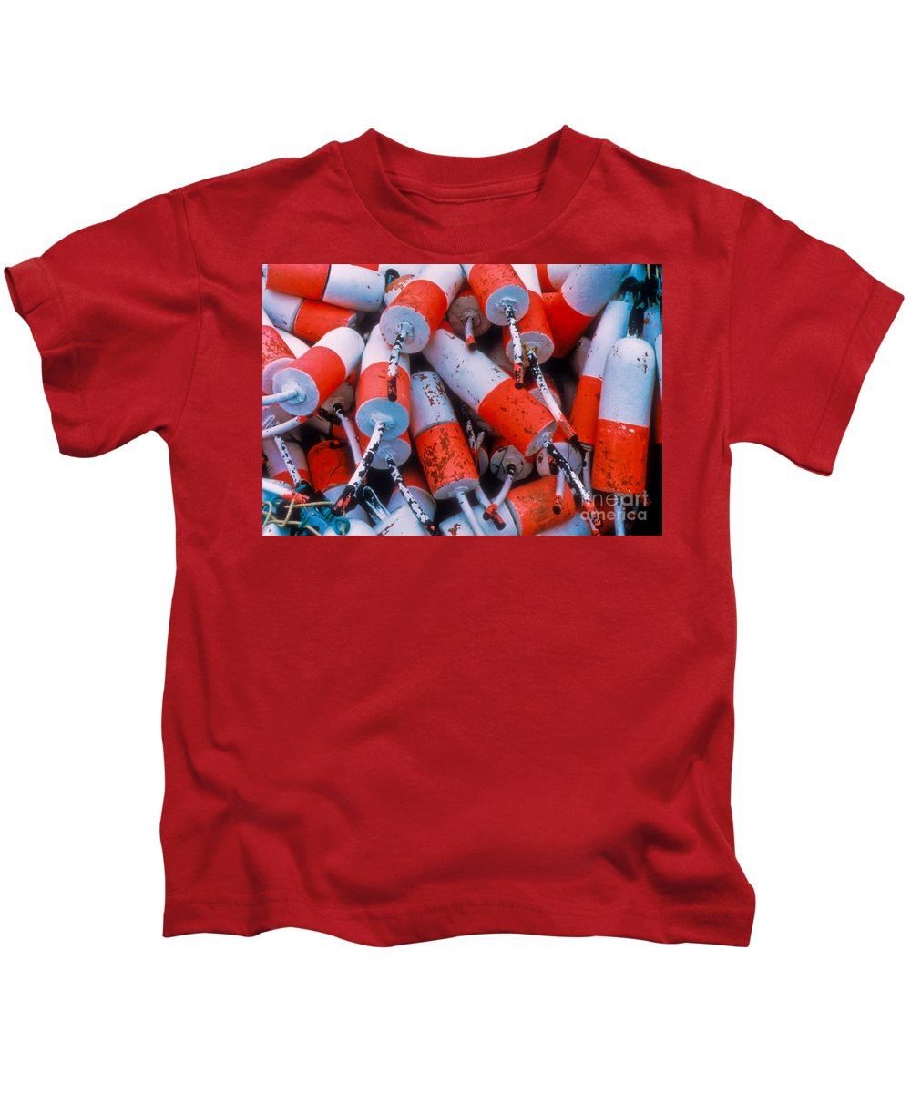 Floats Kids T-Shirt featuring the photograph Floats by Thomas Marchessault