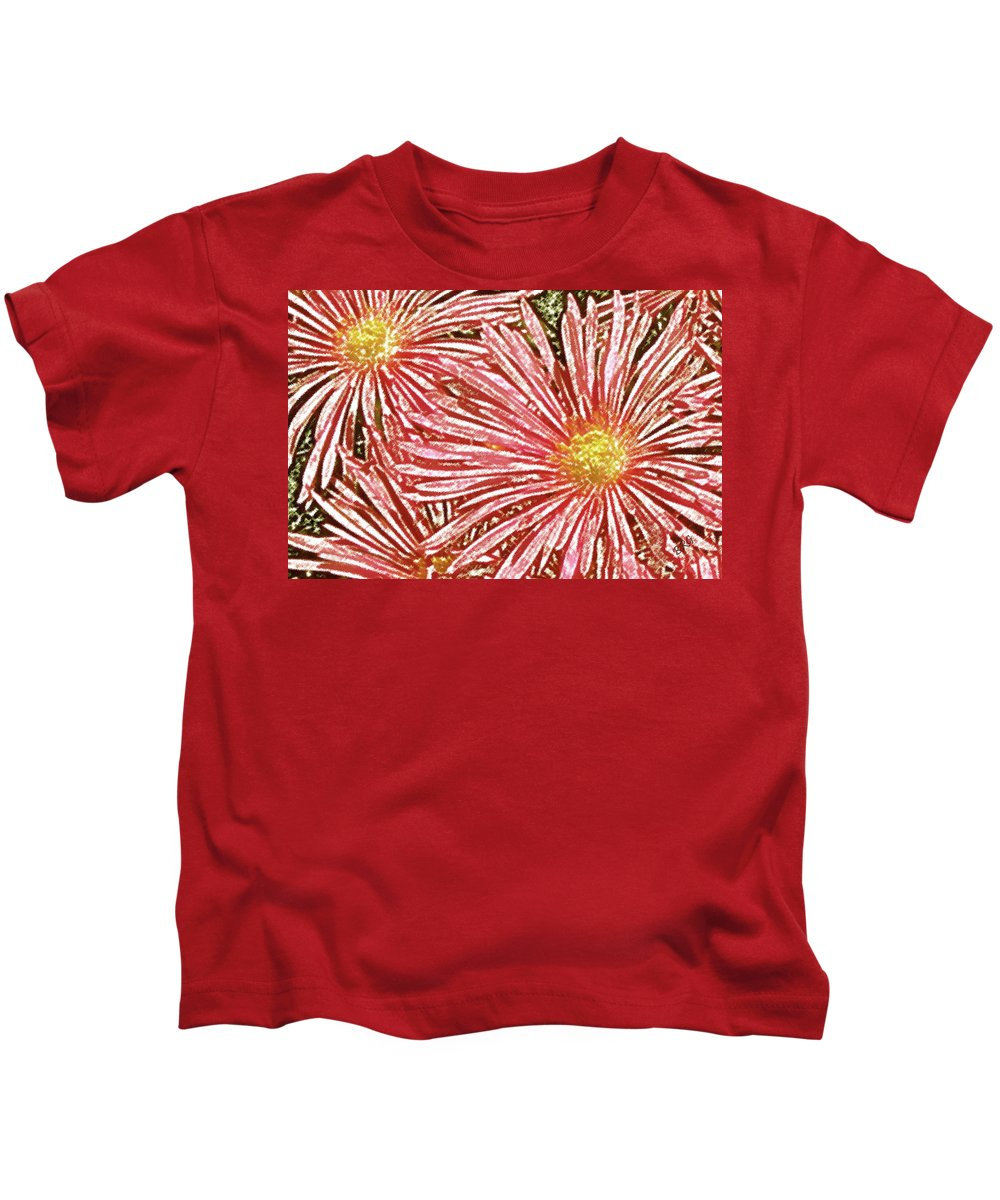 Floral Abstract Kids T-Shirt featuring the photograph Floral Design No 1 by Ben and Raisa Gertsberg