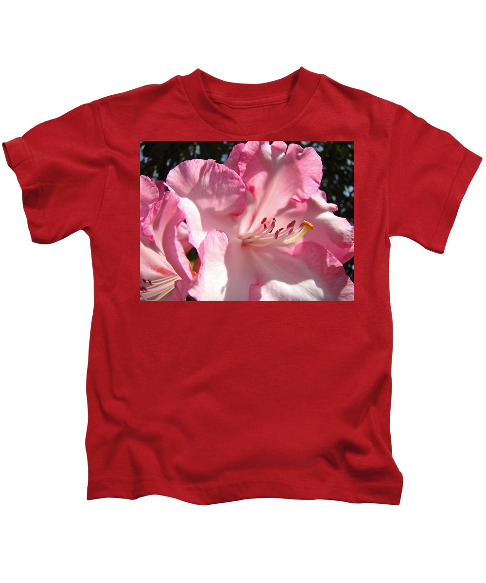 Rhodies Kids T-Shirt featuring the photograph Floral Fine Art Prints Pink Rhodie Flower Baslee Troutman by Baslee Troutman