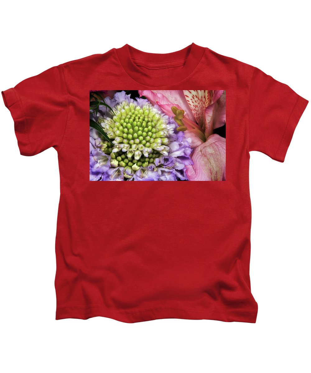 Macro Kids T-Shirt featuring the photograph Floral Macro by Robert Storost