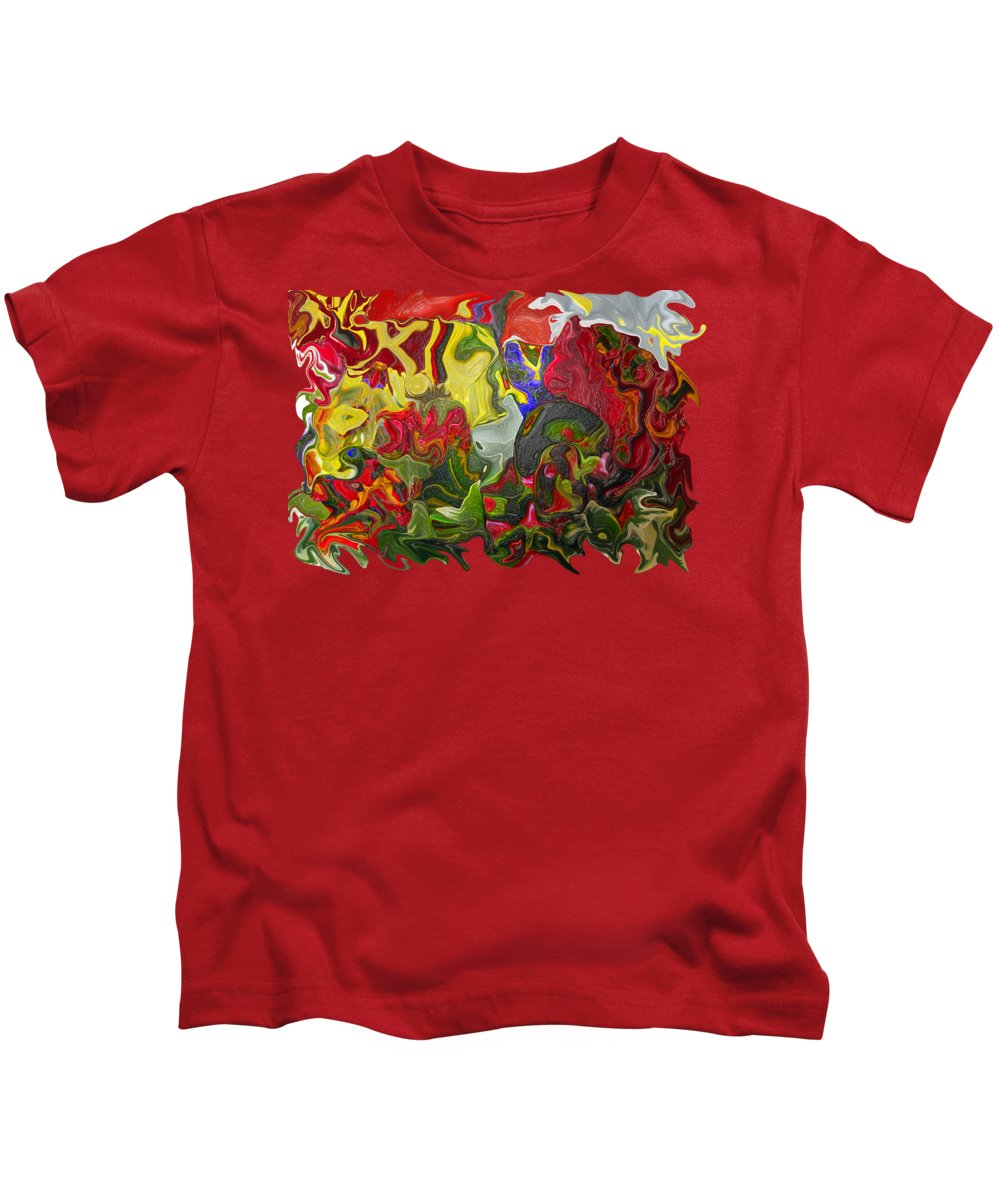 Abstract Kids T-Shirt featuring the photograph Floral Reef by Kathy Moll