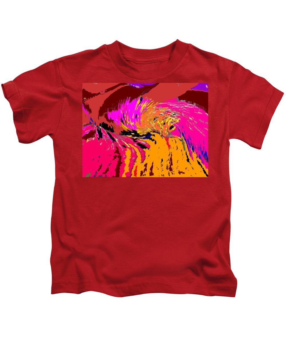 Abstract Kids T-Shirt featuring the digital art Flow by Ian MacDonald
