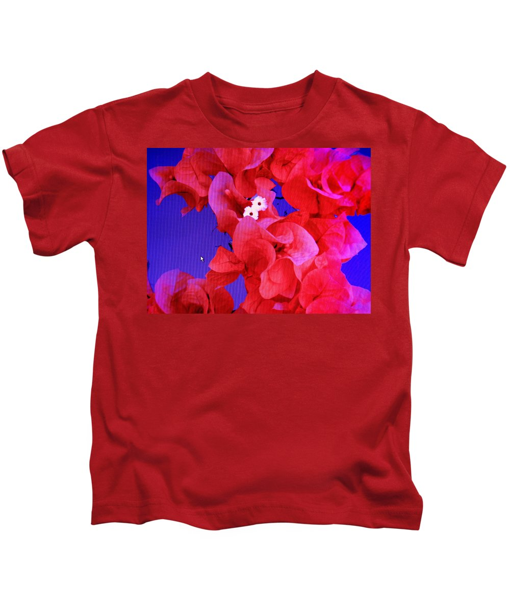 Red Kids T-Shirt featuring the photograph Flower Fantasy by Ian MacDonald