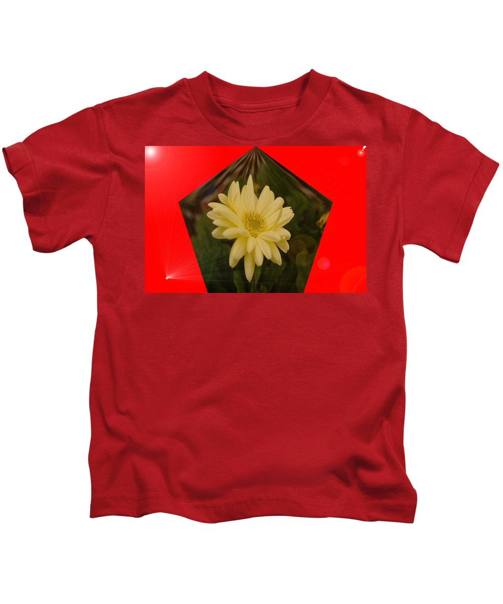 Flowers Kids T-Shirt featuring the photograph Flower In A Pentagon by Jeff Swan