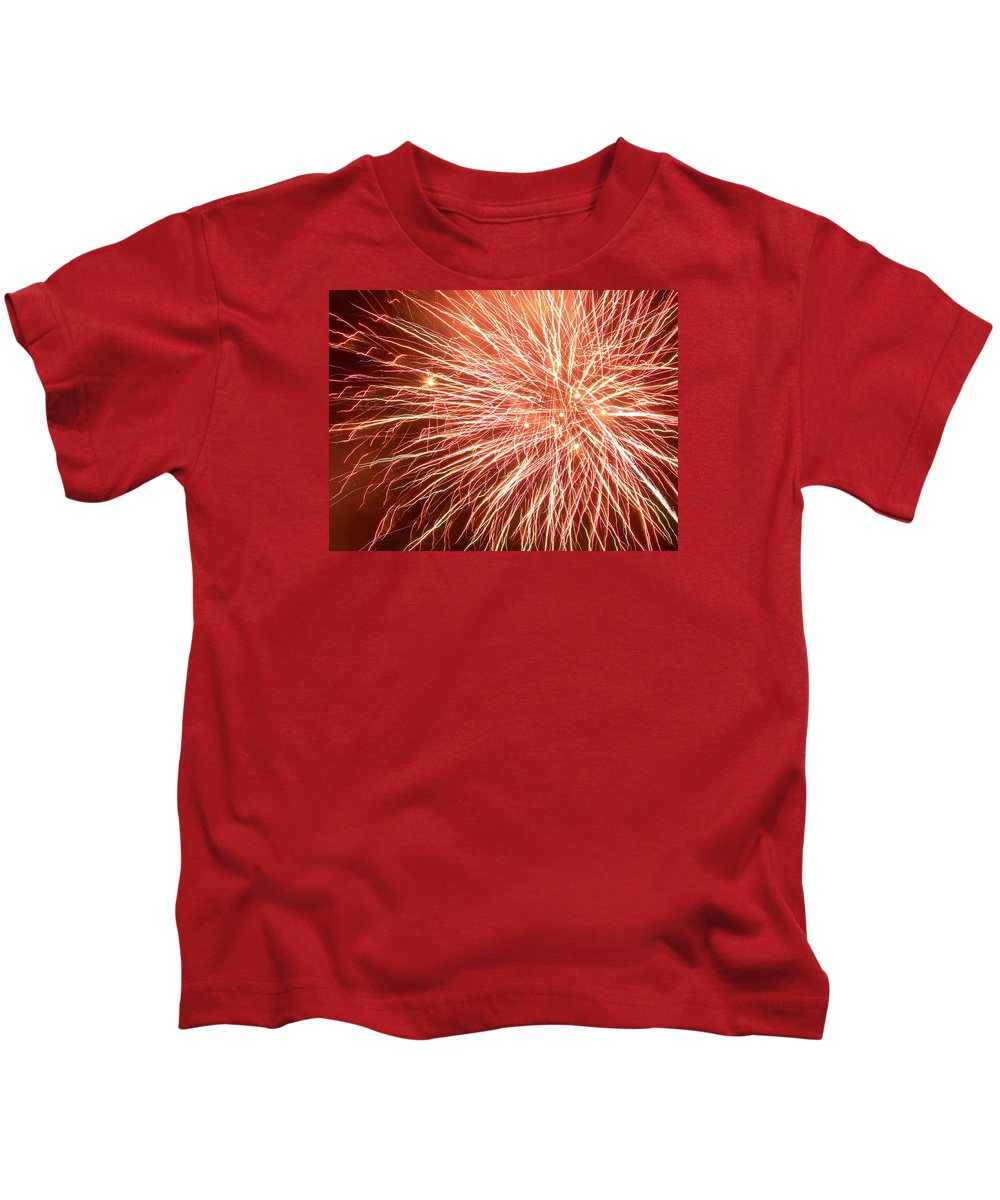Fireworks Kids T-Shirt featuring the photograph Force Field by Lorraine Baum