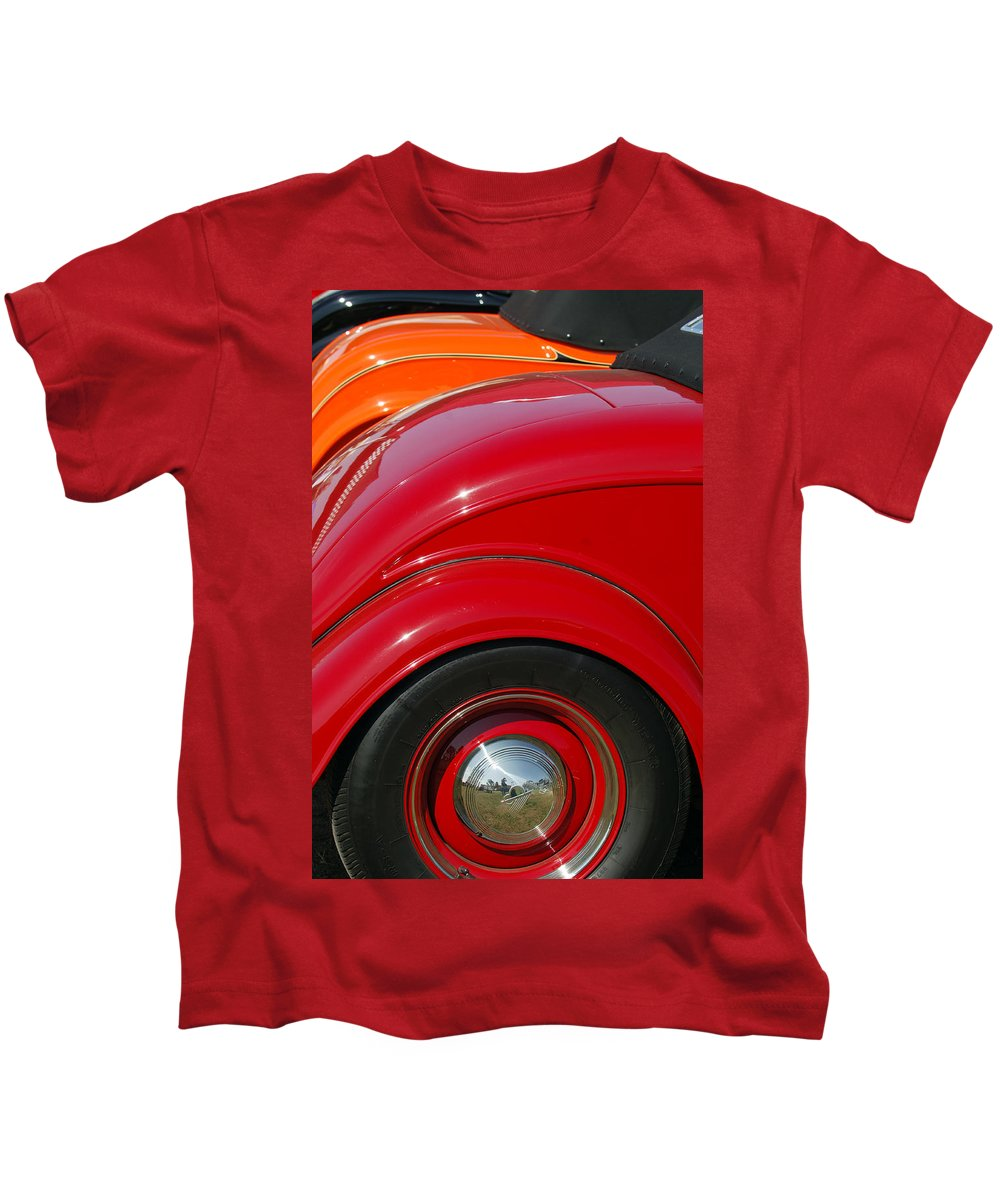 Car Kids T-Shirt featuring the photograph Ford Roadsters by Jill Reger