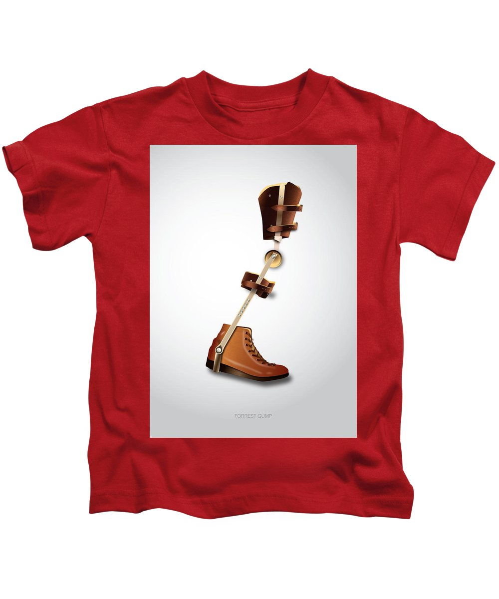 Forrest Gump Kids T-Shirt featuring the digital art Forrest Gump - Alternative Movie Poster by Movie Boy