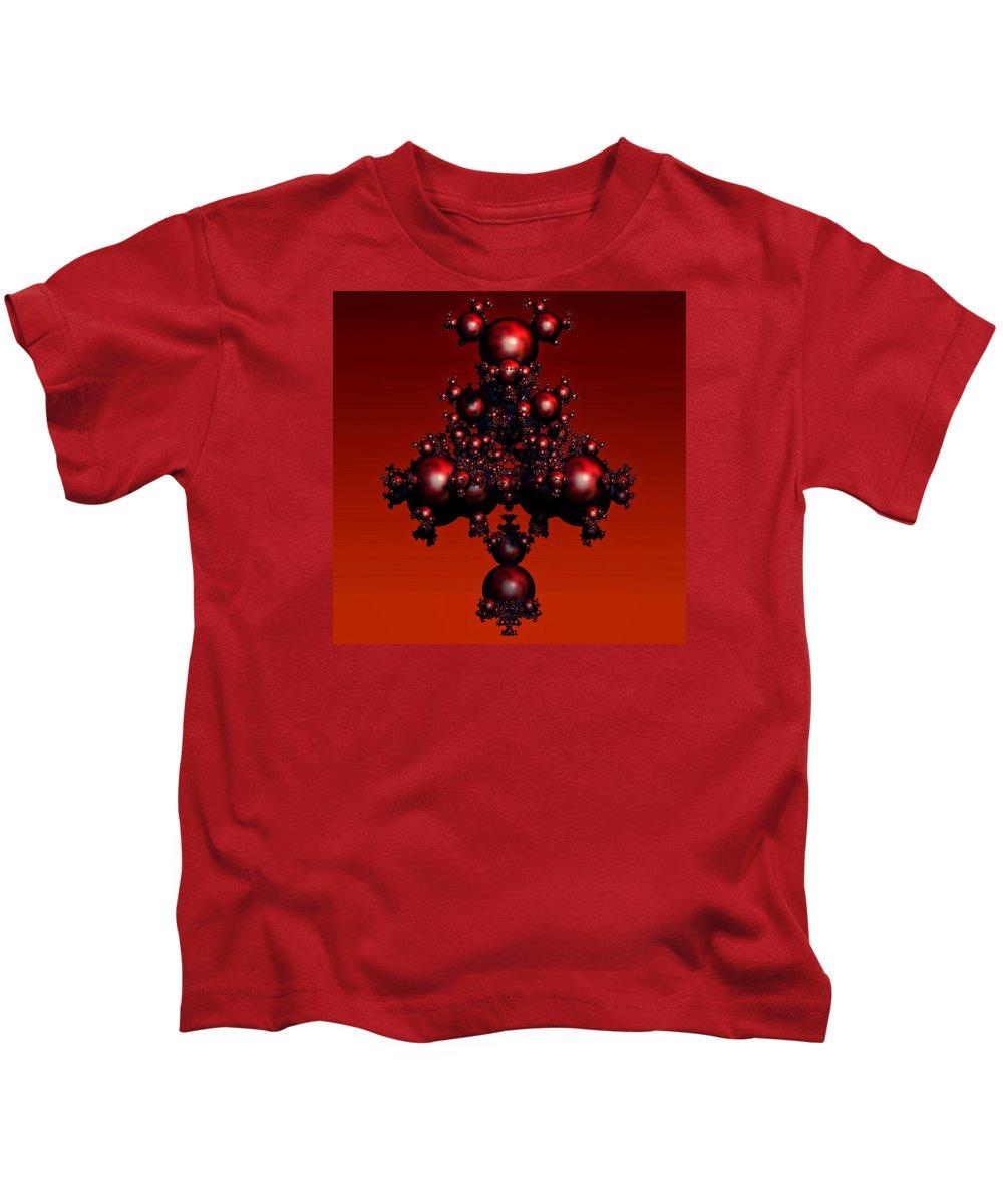 Fractal Kids T-Shirt featuring the digital art Fractal Deviations by Napo Bonaparte