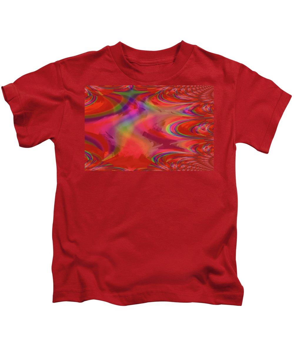 Abstract Kids T-Shirt featuring the photograph Fractal Red by Jeff Swan