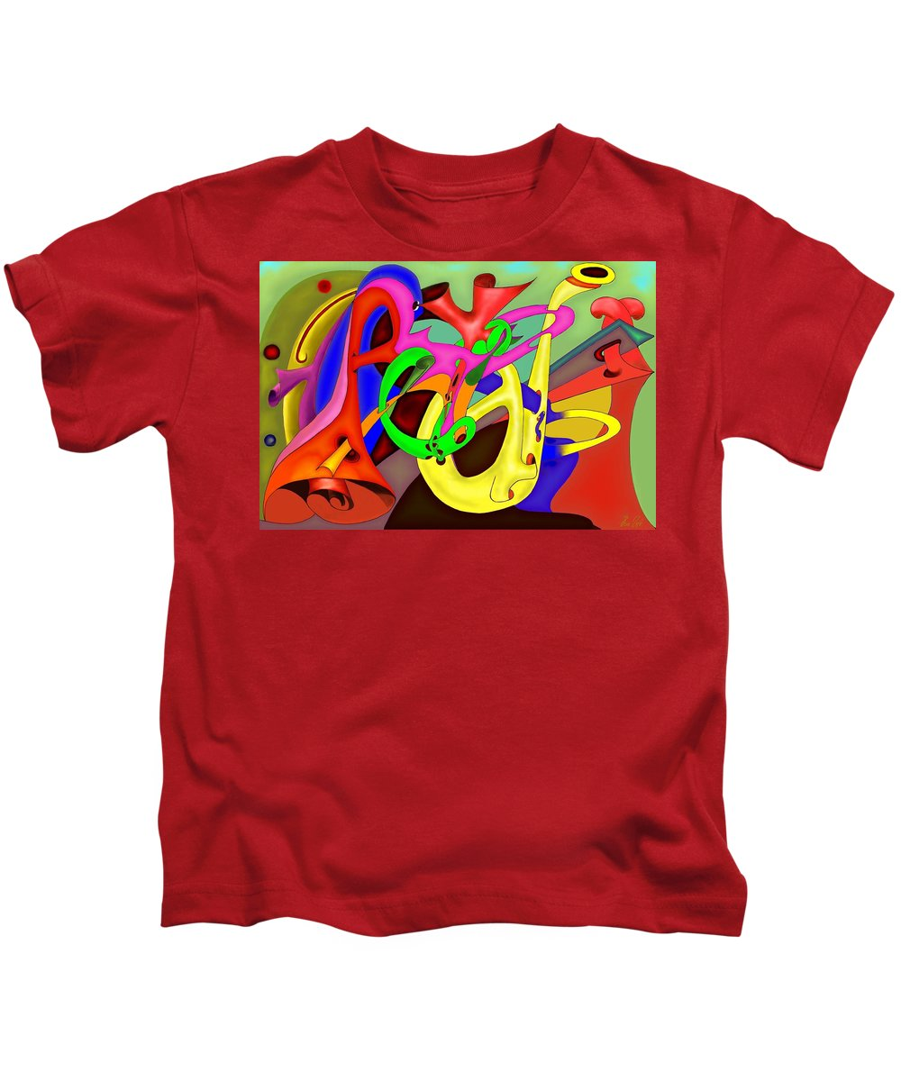 Brotherhood Kids T-Shirt featuring the digital art Fraternite by Helmut Rottler