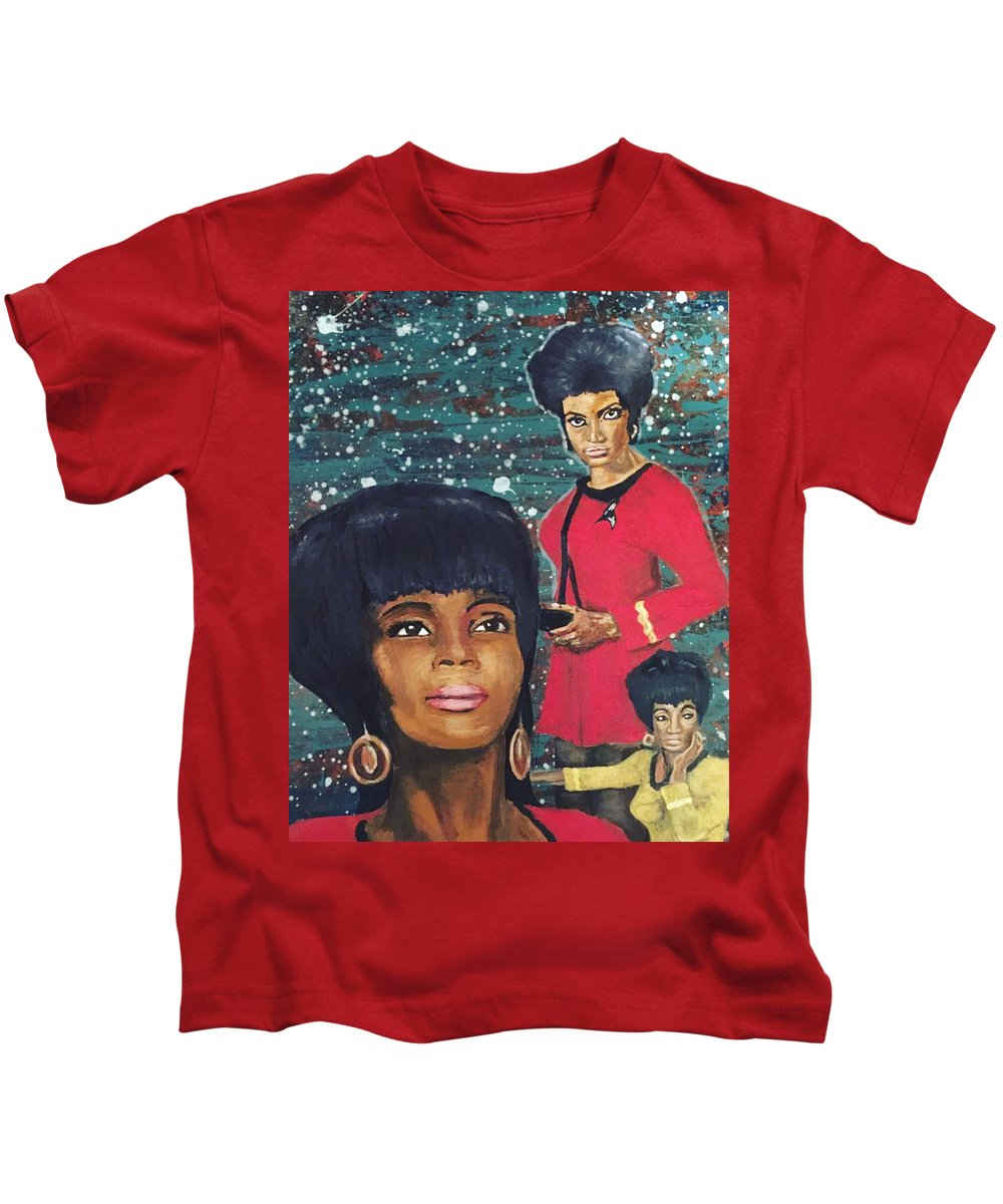 Star Kids T-Shirt featuring the mixed media Freedom Star by Corella Fairchild