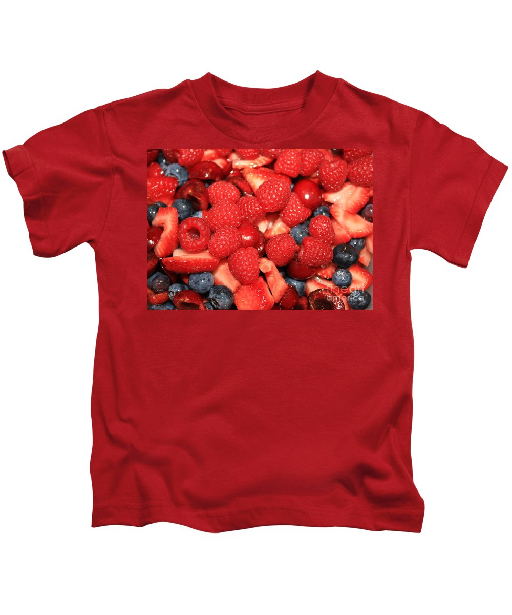Fruit Salad Kids T-Shirt featuring the photograph Fresh Berry Salad by Carol Groenen