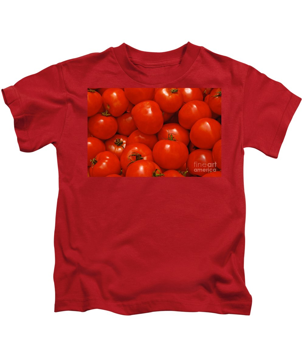 Tomato Kids T-Shirt featuring the photograph Fresh Red Tomatoes by Thomas Marchessault