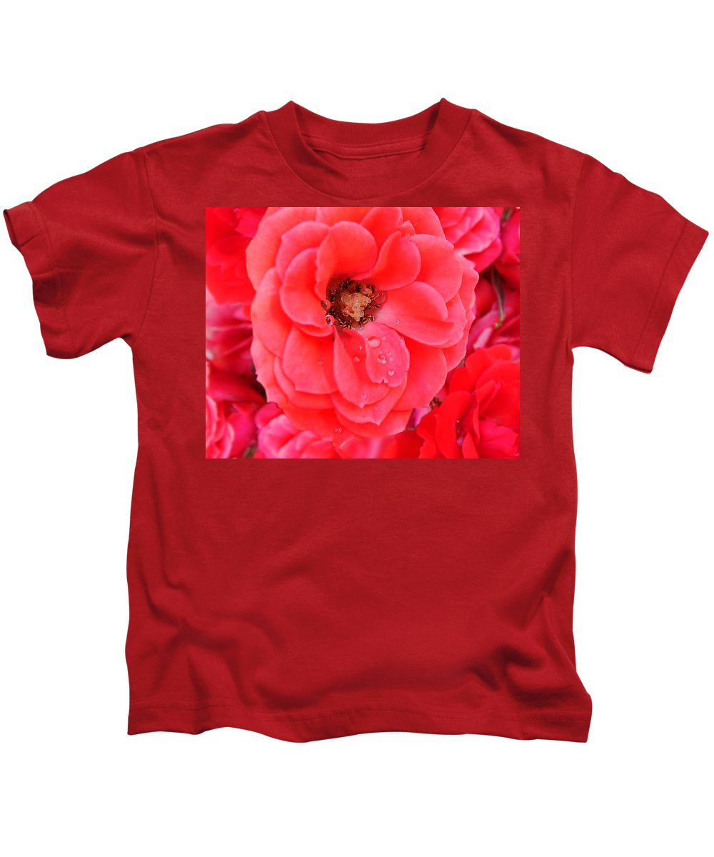 Roses Kids T-Shirt featuring the photograph Full Bloom by Anthony Jones