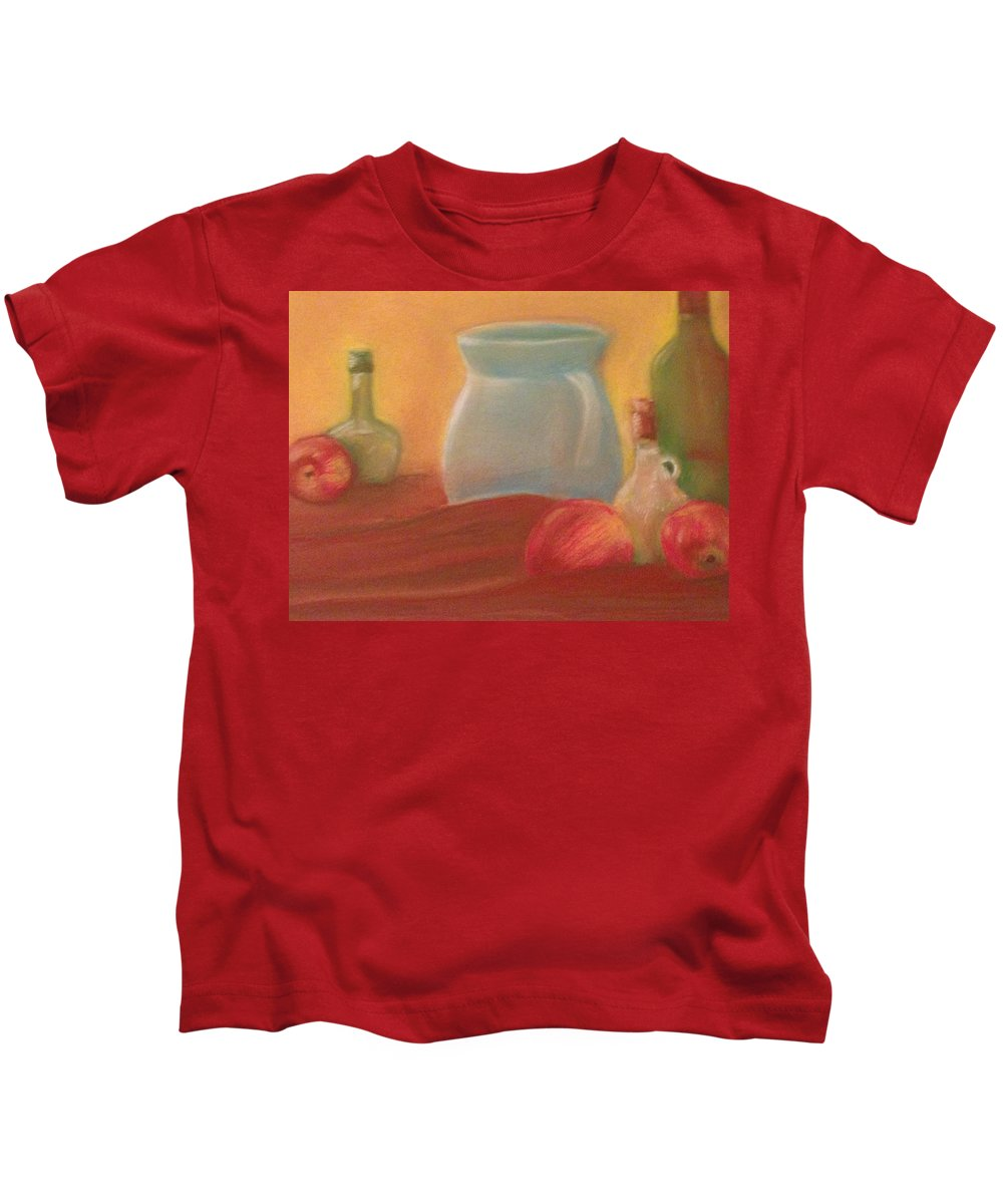 Pastel Kids T-Shirt featuring the pastel Full Color Still Life by Michael Martone