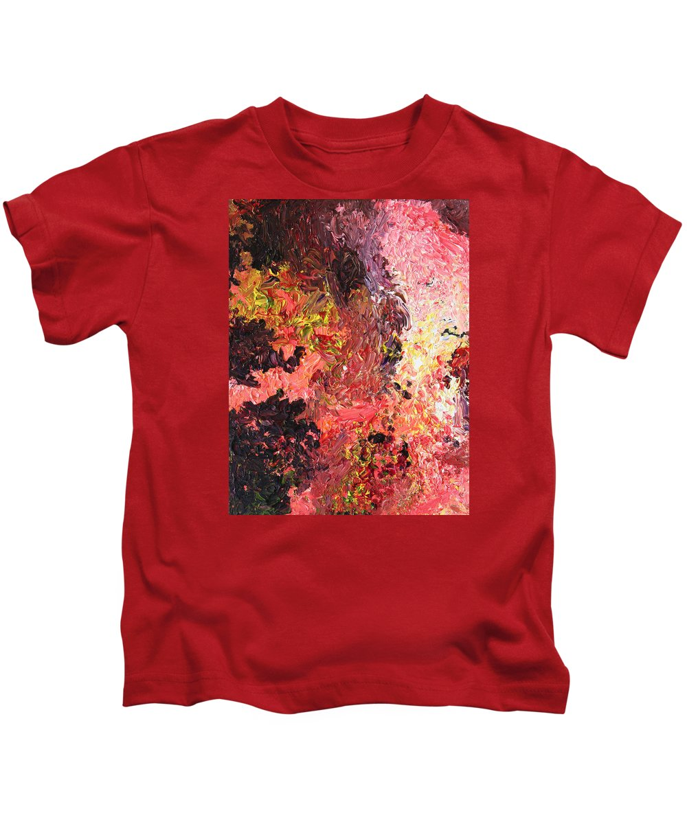 Fusionart Kids T-Shirt featuring the painting Ganesh In The Garden by Ralph White