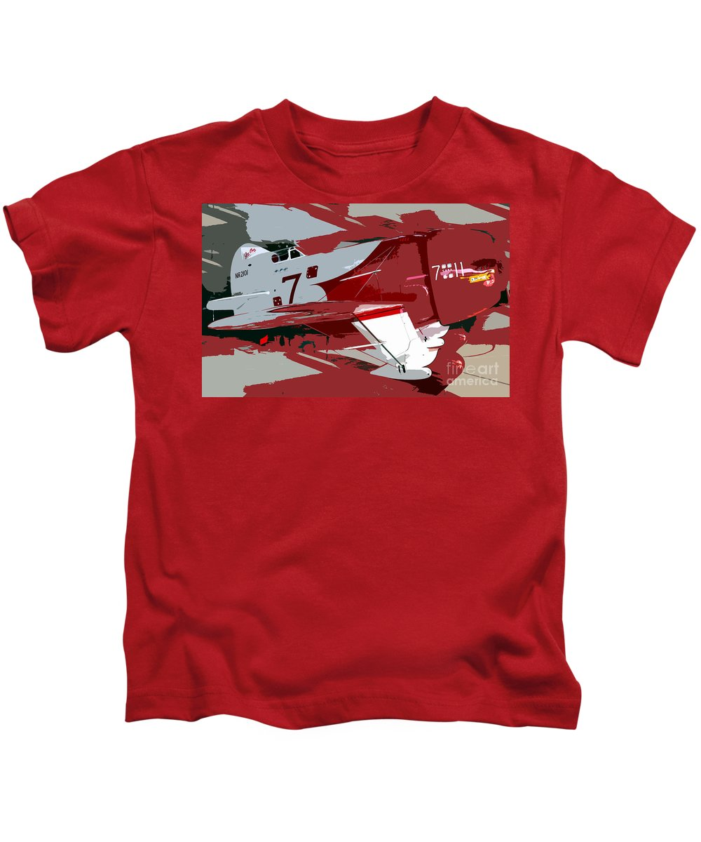 Gee Bee Racer Kids T-Shirt featuring the painting Gee Bee Racer by David Lee Thompson