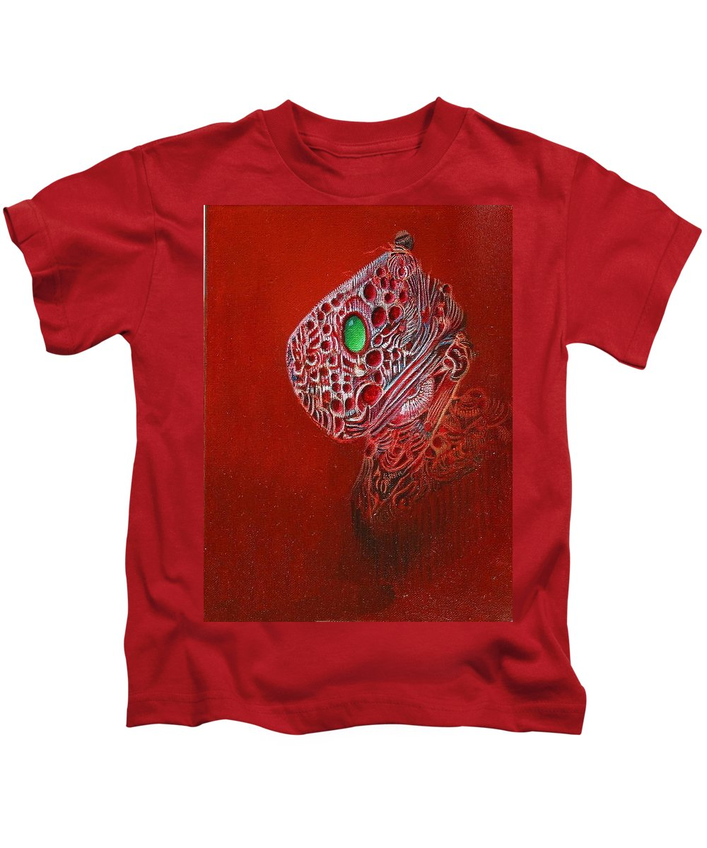 Imagination Visionary Kids T-Shirt featuring the painting Gem by Robert Gravelin
