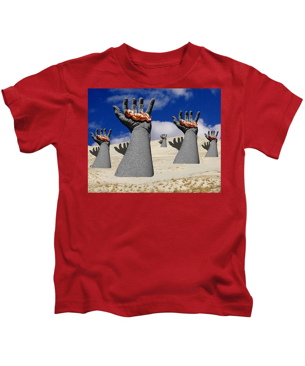 Babies Kids T-Shirt featuring the digital art Generation Of Hope by Keith Dillon